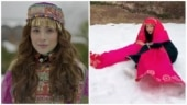 Shehnaaz Gill falls down while dancing in the snow in Kashmir. Watch hilarious video