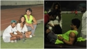 Disha Patani cares for injured Tiger Shroff on the football field
