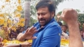 Chiranjeevi gets thunderous welcome in Rajahmundry ahead of Acharya shoot. Viral pics