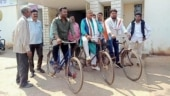 Odisha Congress MLAs cycle to Assembly in protest against fuel prices