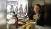 Fact Check: Picture of Greta Thunberg having food in front of poor kids is morphed