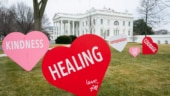 Little joy, little hope: US First Lady Dr Jill Biden decorates White House to celebrate Valentine's Day