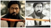 Fan makes flip art of Yash's KGF 2 teaser. Producer Karthik Gowda is mindblown