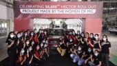 MG Hector's 50,000th unit manufactured by all-women crew in Vadodara