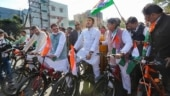 Congress MLAs ride bicycles to Madhya Pradesh Assembly to protest against rise in fuel prices