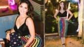 Sunny Leone stuns in Rs 10k crop top and pencil skirt set