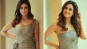 Shweta Tiwari stuns in silver body-hugging 2-piece gown. Ekta Kapoor is in awe