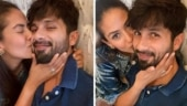 Mira Rajput plants a kiss on hubby Shahid Kapoor's cheek, actor is feeling the love