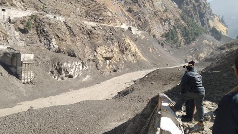 Image result for lake created after glasier burst in uttrakhans