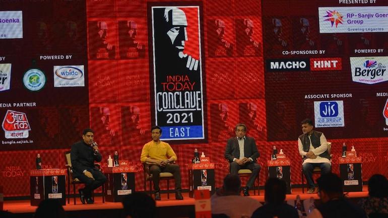 Tota Roy Choudhury, Sabyasachi Chakrabarty and Srijit Mukherji at India Today Conclave East 2021. (Photo: Yasir Iqbal)