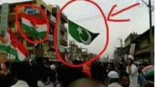 Fact Check: No, this green flag in a Congress rally is not a Pakistani flag