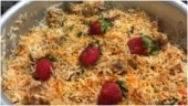 Pakistani man garnishes Biryani with strawberries in viral post. Internet reacts