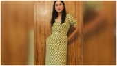 Gauahar Khan ups the style quotient in Rs 4k belted patterned dress