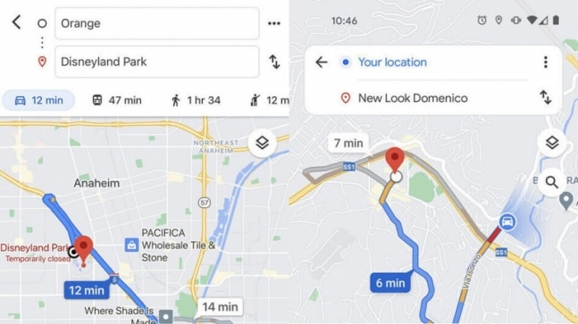Google Maps UI is getting a refresh, here's how the new route selection screen will look like - India Today