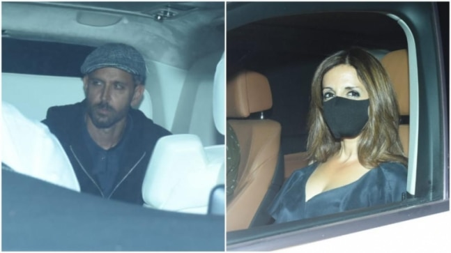 Hrithik Roshan and Sussanne Khan attend Sanjay Khan's dinner party. See pics - India Today