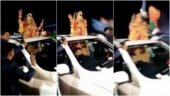 Watch: Dancing bride narrowly escapes death as speeding car crushes others in wedding party, 1 killed