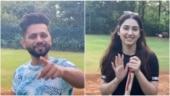 Disha Parmar brushes up batting skills on vacay, Rahul Vaidya calls her Kohli in making