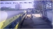 Disabled man slips while boarding moving train, Panvel RPF cop saves him. Watch video
