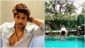 Sidharth Shukla takes a dip in the pool in new video. Haye garmi, say fans