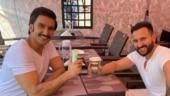 Ranveer Singh and Saif Ali Khan bond over coffee on sets. See pic