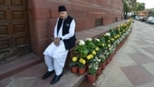 Picture of the day: National Conference MP Farooq Abdullah at the Parliament house during the ongoing Budget session