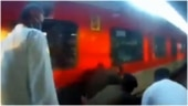RPF woman cop saves passenger from falling under moving train in Visakhapatnam. Watch