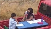 Mexico woman turns pick-up truck into portable classroom to teach kids. Viral story