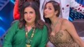 Malaika Arora does Eka Pada Ashtanga Namaskara. Farah Khan reacts with a special request