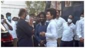 Rajinikanth's latest pic with Legend Saravanan on sets of Annaatthe goes viral