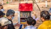 Park library set up for children in Bhubaneswar on World Poetry Day