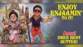 Amul recreates poster of Dhee and Arivu's Tamil song Enjoy Enjaami. See cute doodle