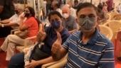 Senior citizens set couple goals at Mumbai Covid-19 vaccine centre