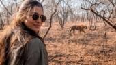 Malavika Mohanan spots tiger during safari at Ranthambore National Park. All pics