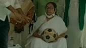 Mamata Banerjee plays with football during rally, repeats 'BJP bowled out' act