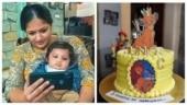 Meghana Raj's son Jr Chiru turns 5 months old, gets Lion King themed cake. Watch video
