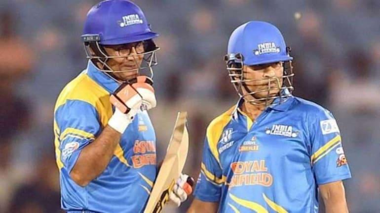 India Legends opening batsmen Virender Sehwag and Sachin Tendulkar