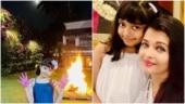 Aishwarya Rai Bachchan shares little Aaradhya's pics from Holi celebration