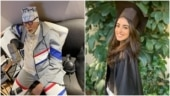 Amitabh Bachchan is back at work after eye surgery. Navya Naveli Nanda reacts