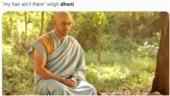 MS Dhoni's bald monk look triggers meme fest online. See best ones