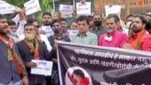 CM Uddhav must take narco test: BJP mounts attack on MVA govt, protests outside Anil Deshmukh's house