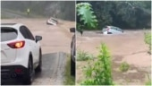 Scary video of car being washed away in floods in Australia goes viral. Watch