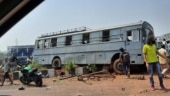 Thane Air Force station bus with 24 onboard meets with accident in Mumbai