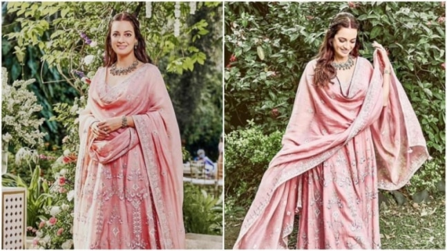 Dia Mirza in Rs 1.2 lakh pink anarkali set is elegance personified. See pics - India Today