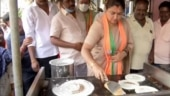 Tamil Nadu: BJP's Khushbu appeals to voter's appetite, makes dosas during poll event