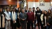 Varun Dhawan, Kriti Sanon meet Arunachal Pradesh CM Pema Khandu before starting Bhediya
