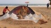 Odisha artist creates stunning sculpture of Lord Shiva on Mahashivratri eve on Puri beach