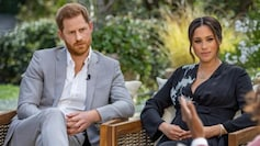 Prince Harry and Meghan Markle during Oprah Winfrey interview