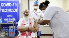 'Special needle for thick-skinned netas?' PM Modi jokes while getting vaccine