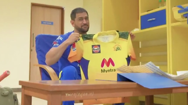 IPL 2021: MS Dhoni unveils new CSK jersey, camouflage on shoulders tribute to Indian armed forces - India Today