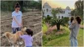 Soha Ali Khan and little Inaaya enjoy spring sunset at Pataudi Palace